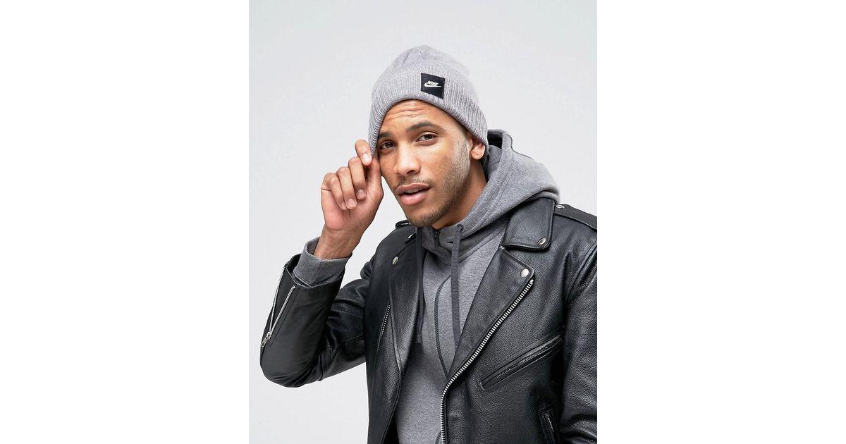 Nike Futura Beanie In Grey 803732-091 in Gray for Men - Lyst 95737ebd63