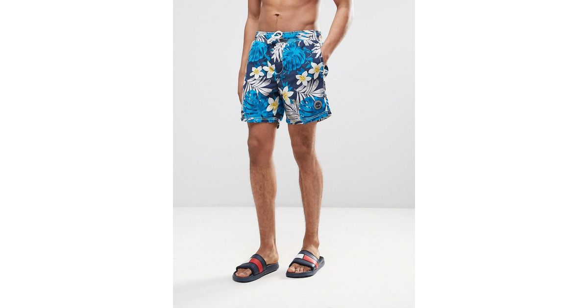 a0904e1959 Lyst - Timberland Multi Floral Swim Shorts In Navy in Blue for Men