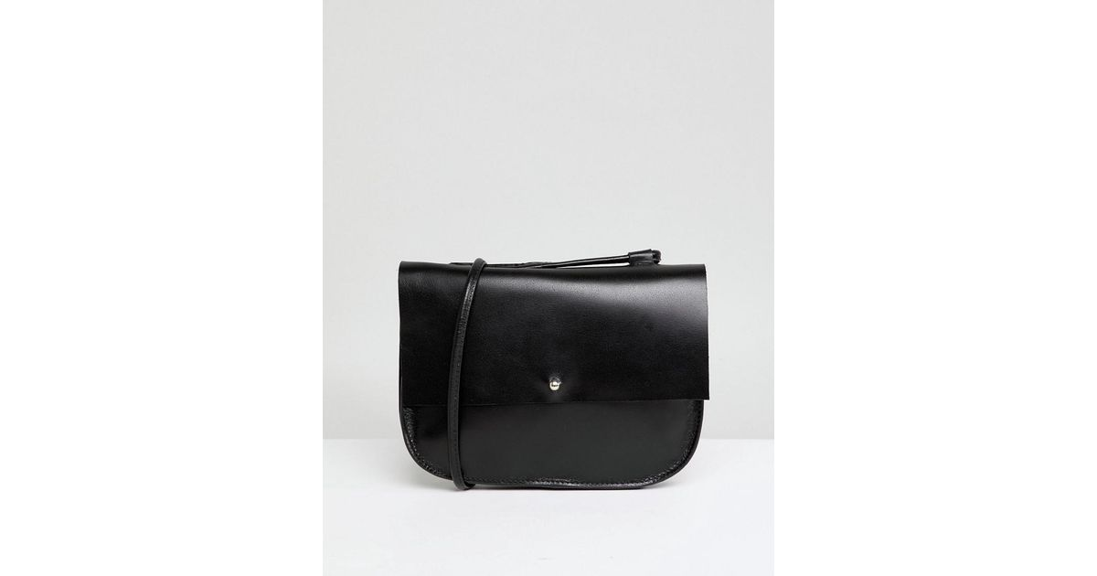 Leather Minimal Stud Saddle Bag - Black Asos Hot Sale Cheap Price eoDOJ