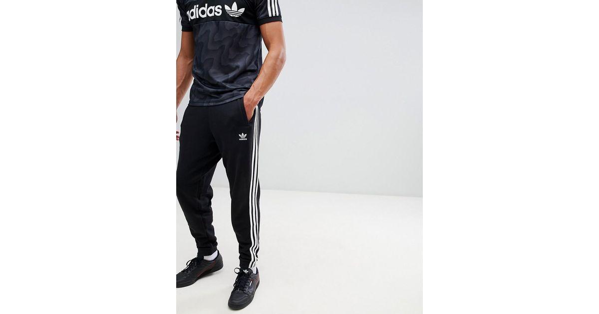 a98386dcd adidas Originals Adicolor 3-stripe Joggers In Black Cw2981 in Black for Men  - Lyst