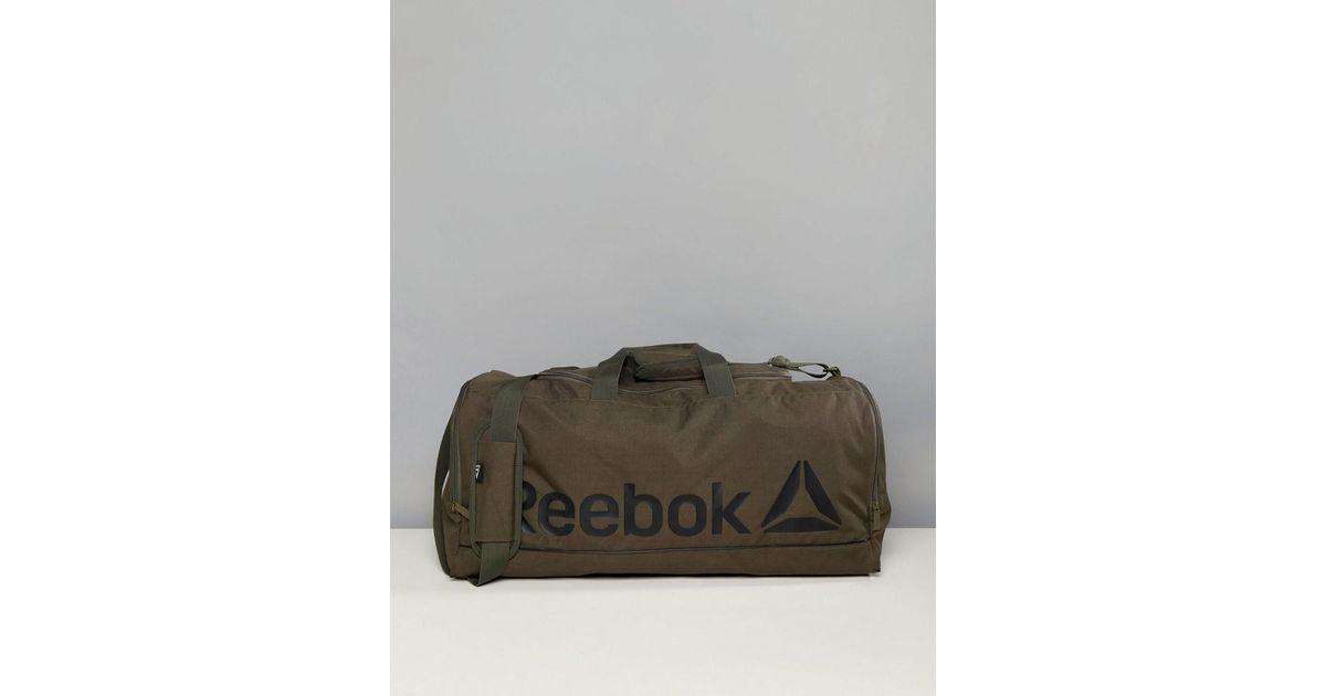 6140435e77b Reebok Training Medium Holdall In Khaki Ce0915 in Green for Men - Lyst