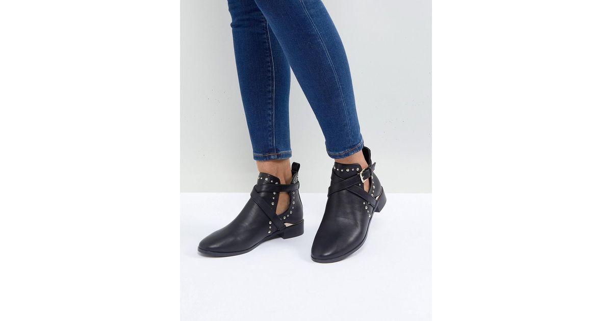 Miss KG Seb Studded Flat Boots HYoPlMQle
