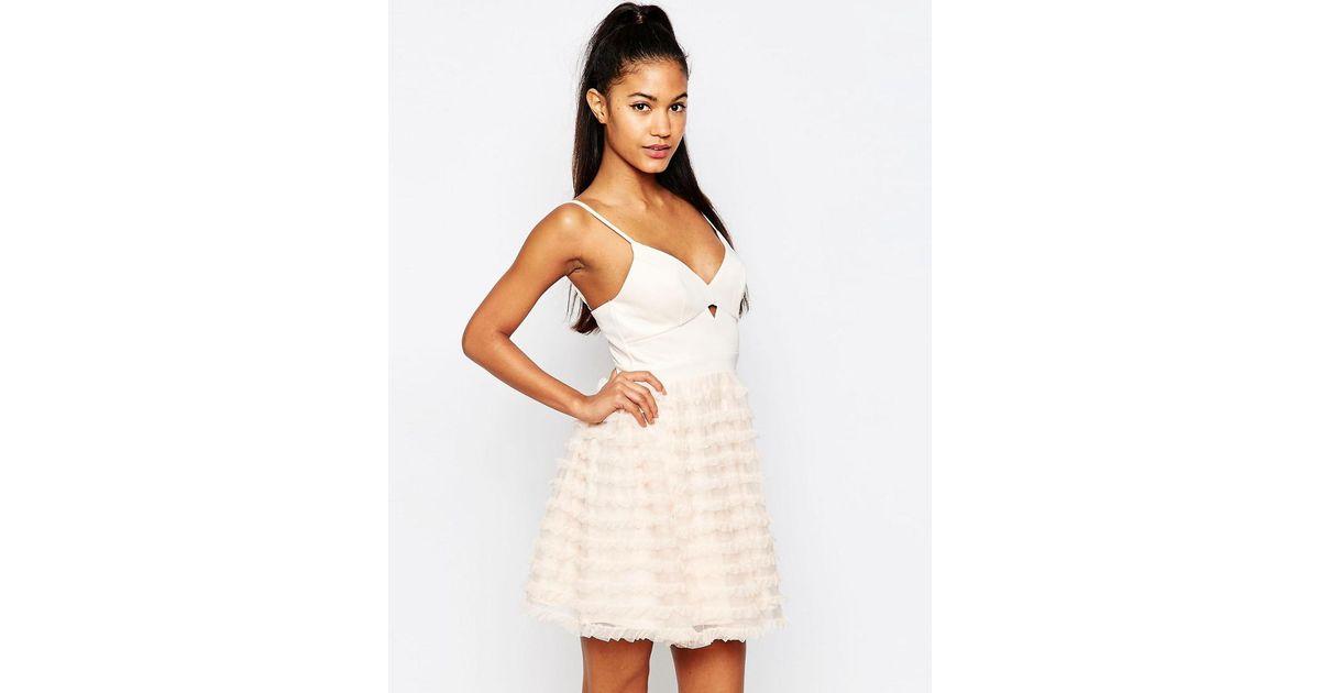 Lyst Lipsy Ariana Grande For Rara Mini Prom Dress In White