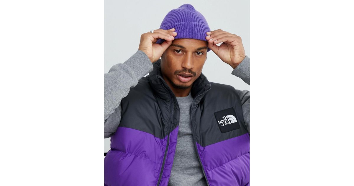 0e3029879cb Lyst - Asos Fisherman Beanie In Purple Recycled Polyester in Purple for Men