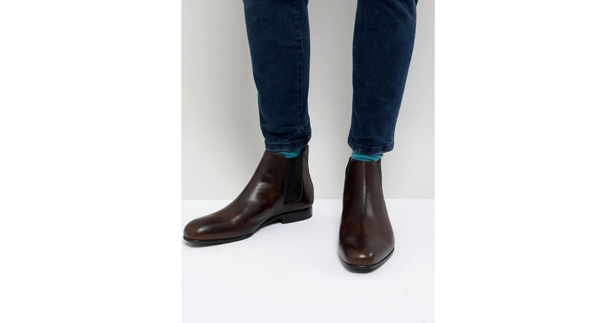 7ebf77ceb Ted Baker Kayto Chelsea Boots In Brown Leather in Brown for Men - Lyst