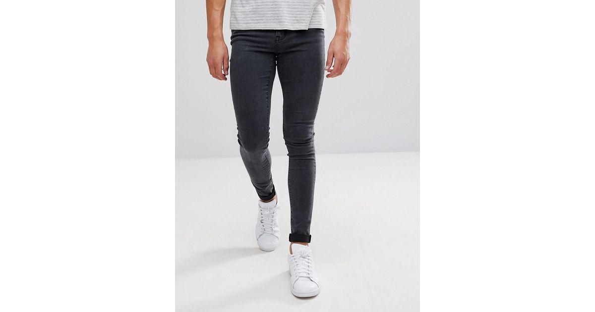 309ea5cda1b Dr. Denim Leroy Super Skinny Gray Lush Skinny Jean in Gray for Men - Lyst