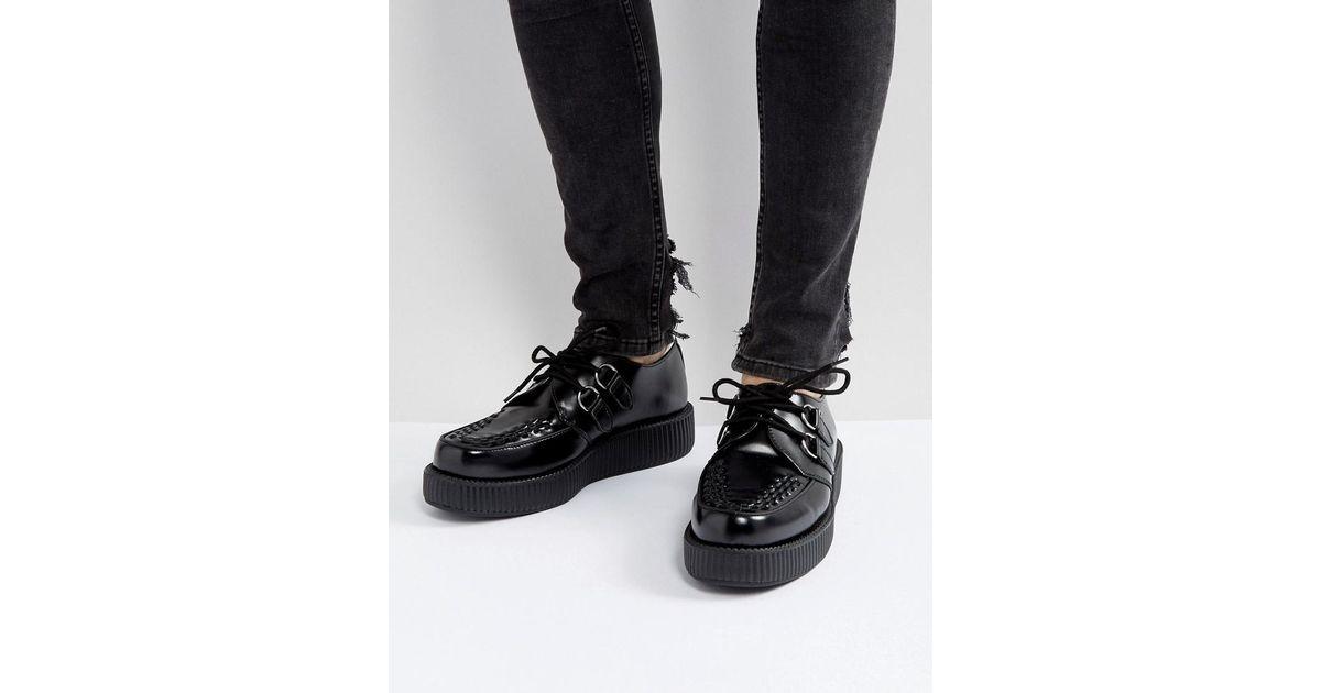 31bd8984ed8 Lyst - T.U.K. Platform Hi Shine Creeper Lace Up Shoes in Black for Men