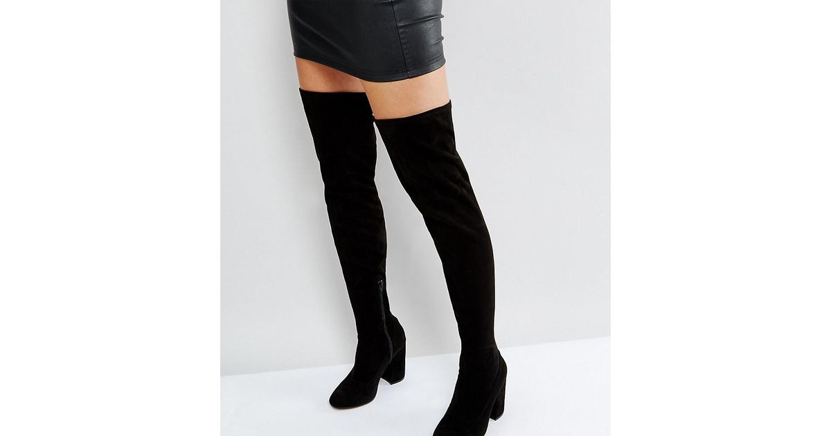 KARMA Wide Fit Pointy Over The Knee Boots clearance best seller where can you find sale outlet buy cheap new styles geniue stockist 7cpeyA8V