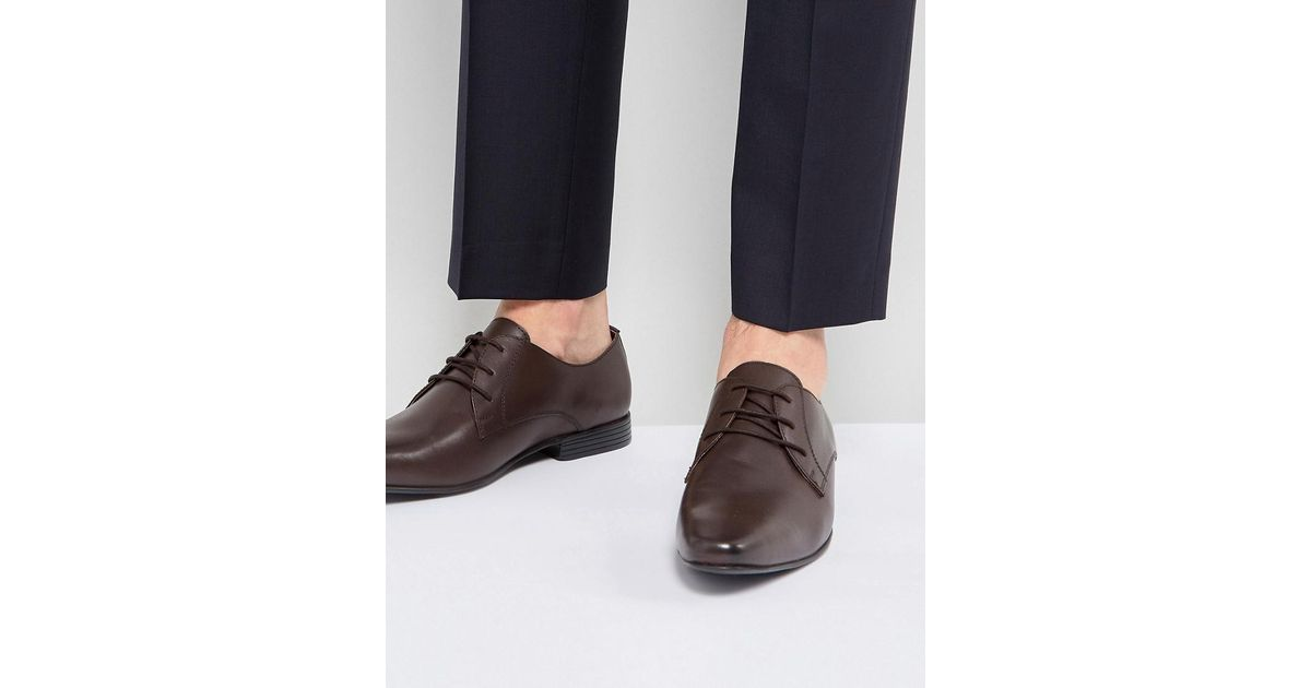 3965a73835ec Lyst - KG by Kurt Geiger Kg By Kurt Geiger Kendall Derby Shoes Brown Leather  in Brown for Men
