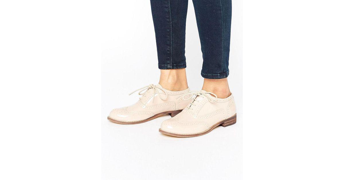 5231068232faca Lyst - London Rebel Brogue Shoe in Natural