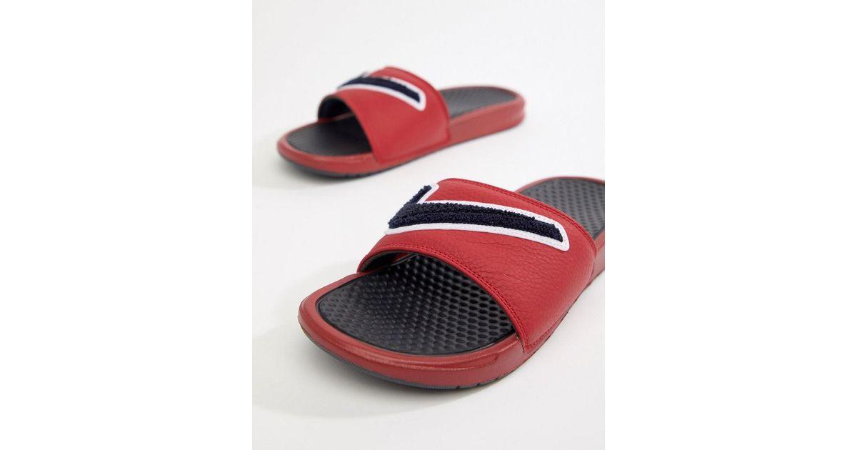 brand new 8eabf b3c20 Nike Benassi Jdi Chenille Sliders In Red Ao2805-600 in Red for Men - Lyst