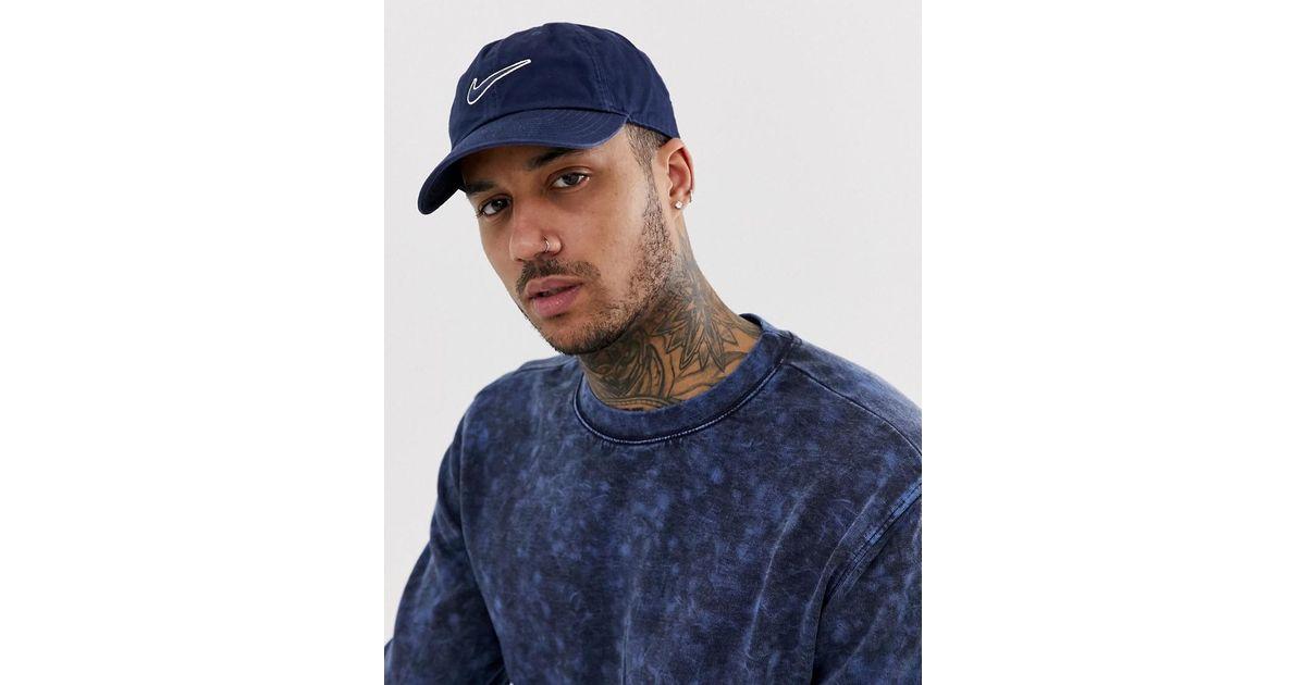 59e0a26722351 Casquette avec logo virgule brodé - Bleu marine Nike pour homme en coloris  Bleu - Lyst