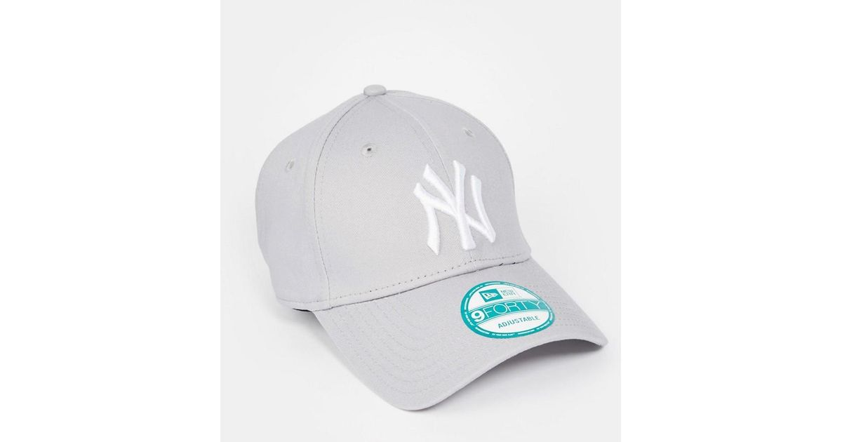 b246440fdc96e ... promo code for ktz 9forty ny adjustable cap in gray for men lyst 21cf8  24831