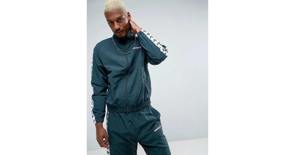 a10bf0a1dce7 Lyst - adidas Originals Adicolor Tnt Tape Wind Track Jacket In Green Bk3632  in Green for Men