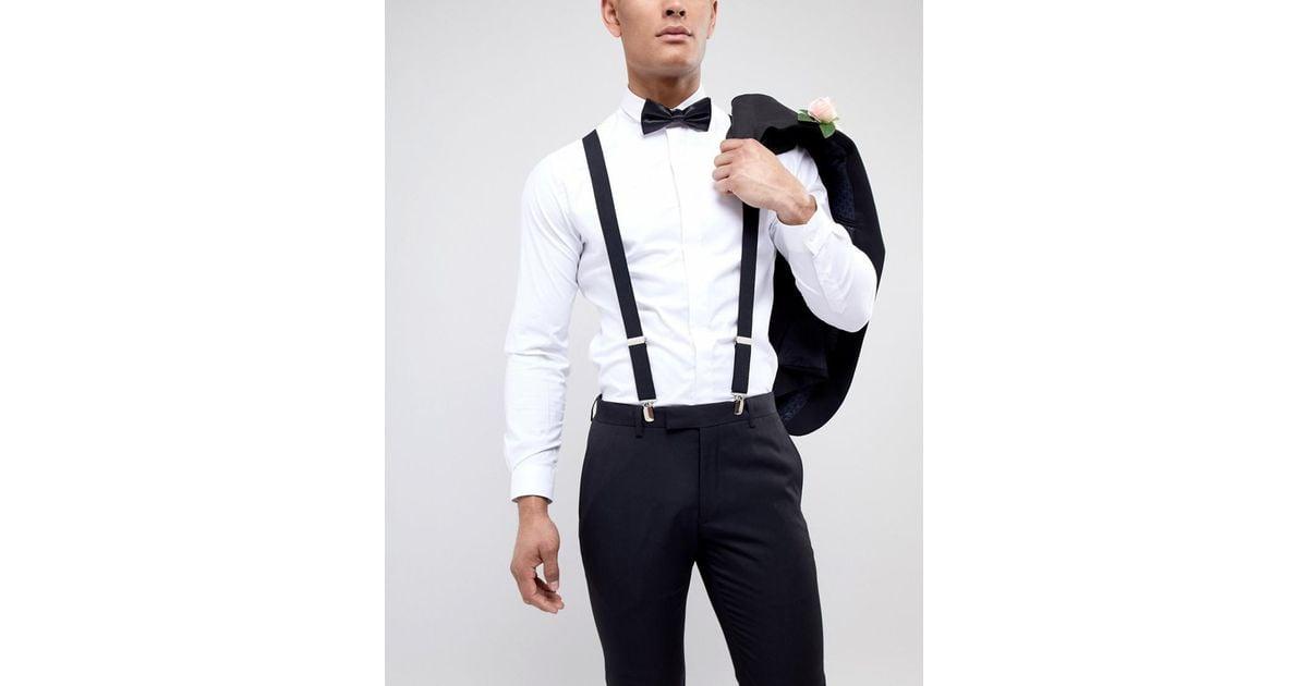 c7ac5738949 Religion Wedding Suspenders   Bow Tie Set With Tonal Logo in Black for Men  - Lyst