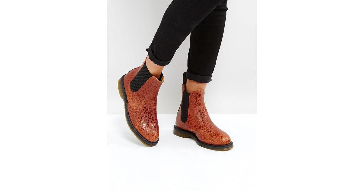 9b5035c7d9ca Lyst - Dr. Martens Kensington Flora Chestnut Chelsea Boots