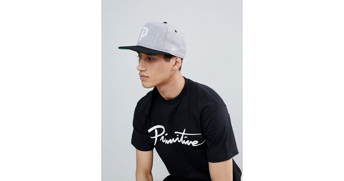 925dcd61895 Primitive Minor League Snapback Cap With Classic Logo In Grey in Gray for  Men - Lyst