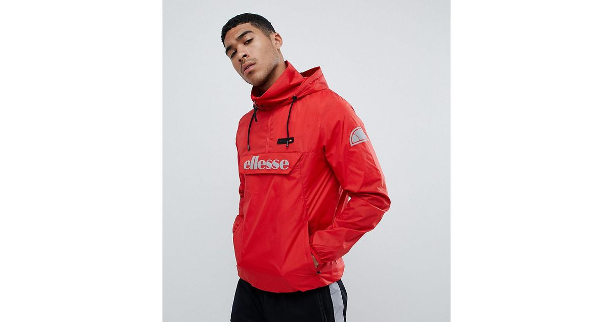 acheter de nouveaux vente chaude grande qualité Veste enfiler avec logo rflchissant Ellesse pour homme en coloris Red