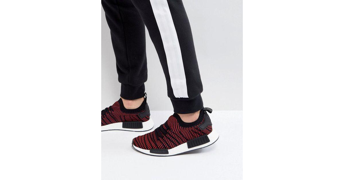 cc110a6ab24c1 adidas Originals Nmd R1 Stlt Primeknit Sneakers In Black Cq2385 in Black  for Men - Lyst