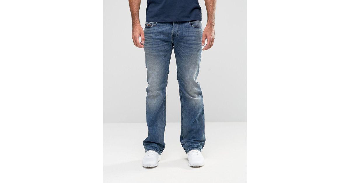 diesel zatiny bootcut jeans 857n light wash in blue for. Black Bedroom Furniture Sets. Home Design Ideas