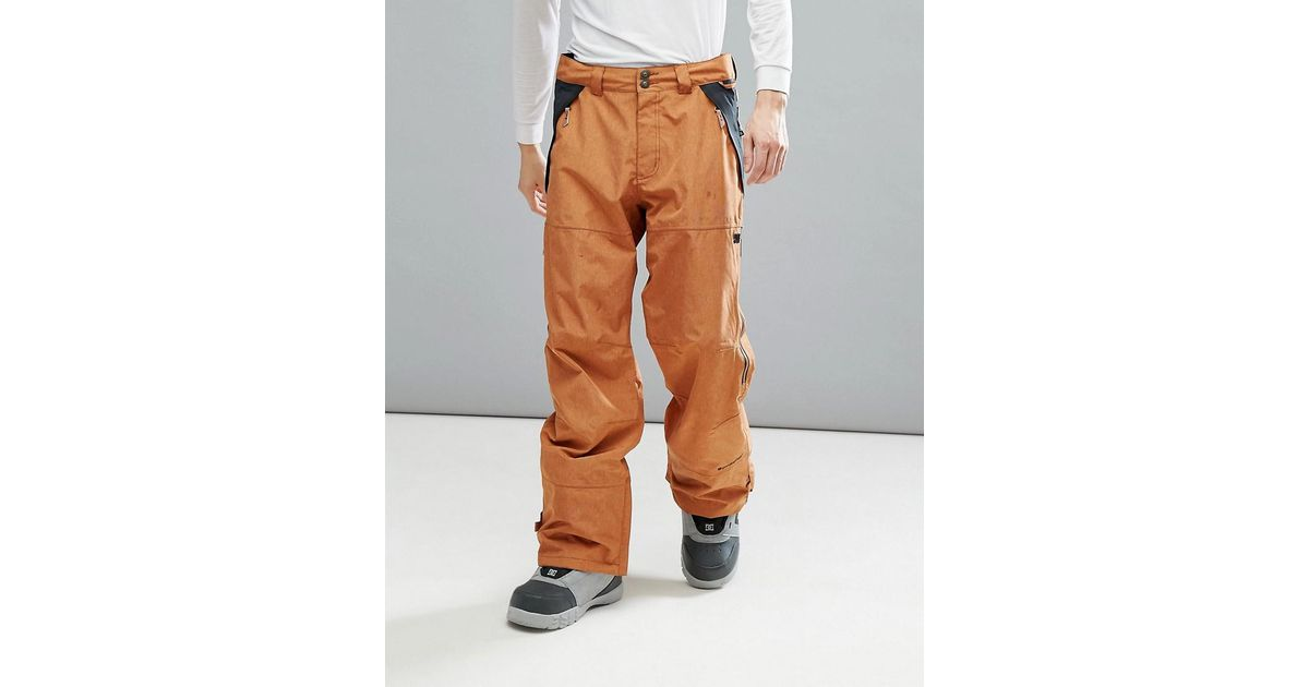 Lyst - DC Shoes Snow Nomad Trousers In 30k Sympatex Fabric in Brown for Men 22e6b2cc8237
