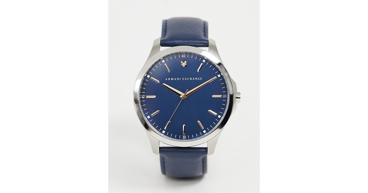 b5e8248d09b7 Lyst - Reloj para hombre en azul marino AX2406 de Armani Exchange de hombre  de color Azul