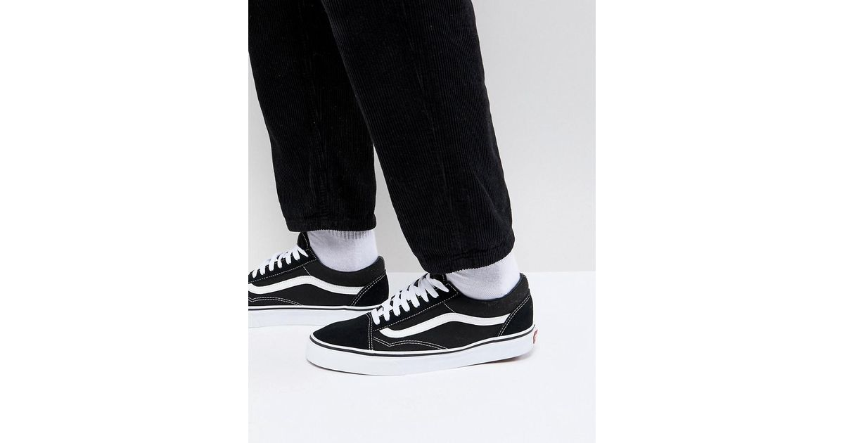 5b19589121c Vans Old Skool Sneakers In Black Vd3hy28 in Black for Men - Lyst
