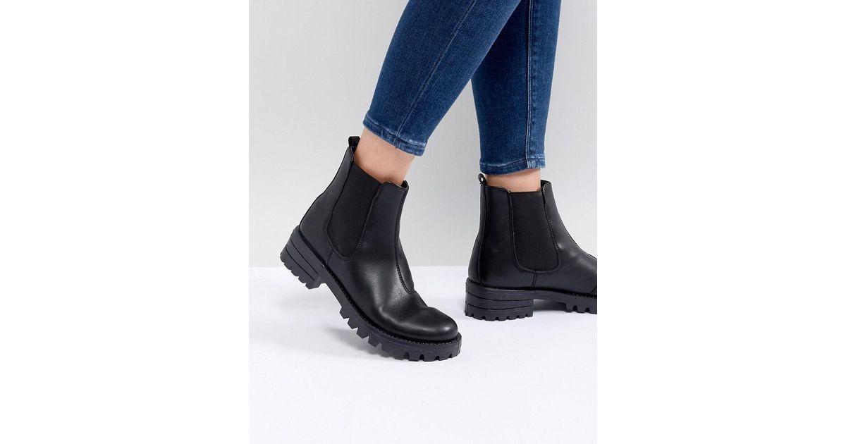 0a896b5f0063 ASOS Aquarius Chelsea Boots in Black - Lyst