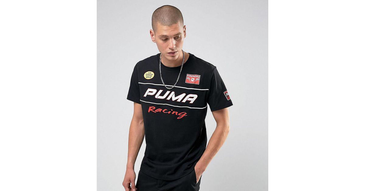 Puma Racing Shirt Men T To Lyst Moto For Print Black Exclusive Asos EH2YDW9I