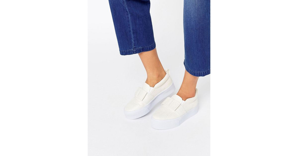 Lyst Asos Flatform Darcy Bow Flatform Asos Sneakers in Blanco bab46e