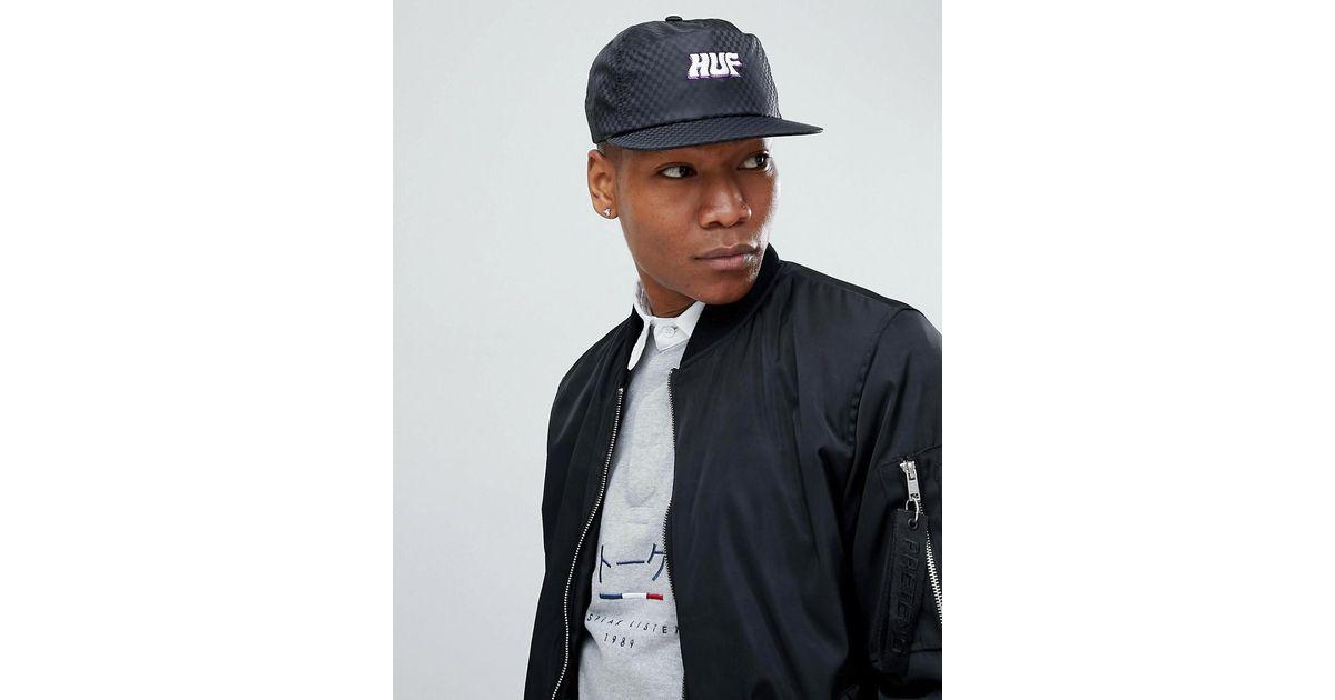 1cb547e4c4a Huf Backstage Snapback Cap In Black in Black for Men - Lyst