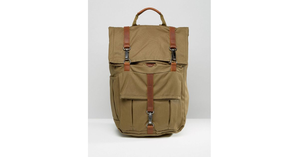 53ba8fc54e22 Lyst - Timberland Rolltop 24l Backpack With Leather Trim for Men