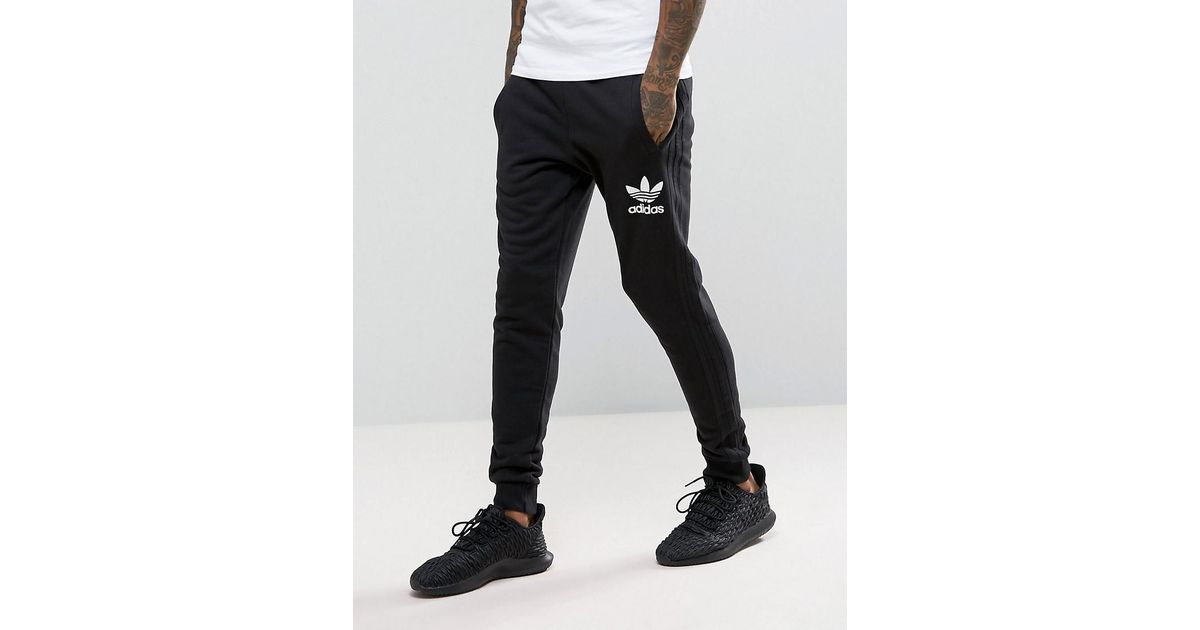 3fc579d06 adidas Originals 3 Stripe Jogger In Black Bs4629 in Black for Men - Lyst