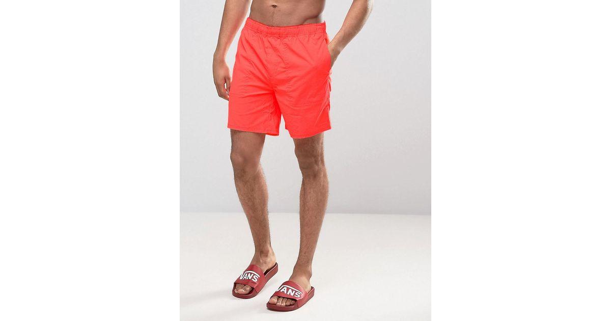 a27fde7eef Lyst - Converse Quick Dry Swim Shorts In Orange 10003459-a03 in Orange for  Men