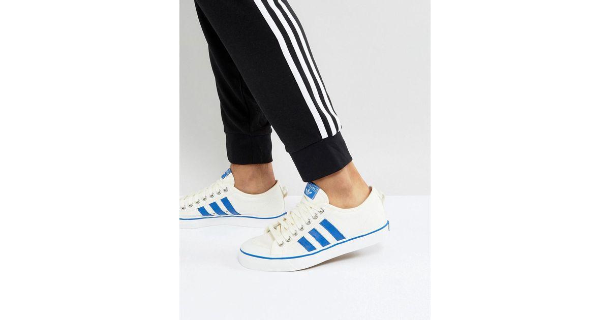 buy popular f3640 34a86 adidas Originals Adidas Originals Nizza Lo Sneakers In White Bz0489 in  White - Lyst