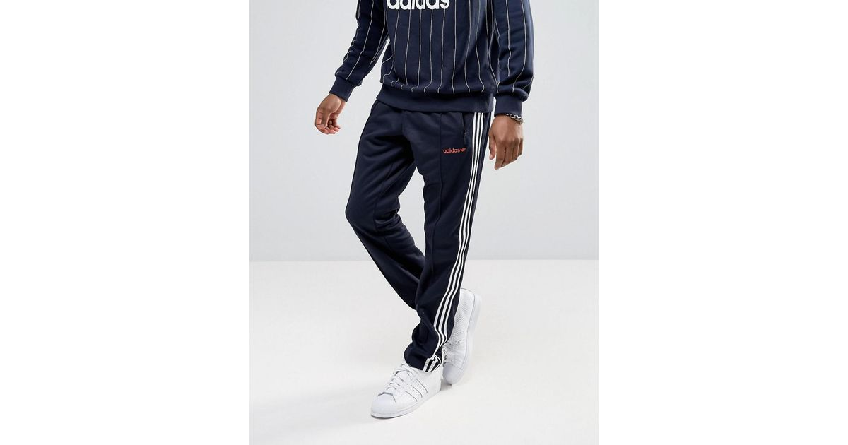 super popular 6c1c8 f581d Lyst - adidas Originals London Pack Block Tapered Joggers In Navy Bk7872 in  Blue for Men