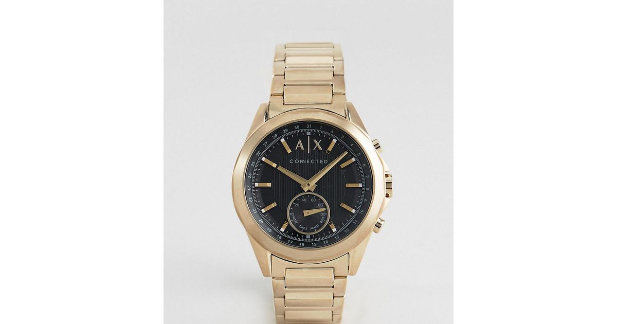 e18fb8c5f Armani Exchange Connected Axt1008 Bracelet Hybrid Smart Watch In Gold in  Metallic for Men - Lyst