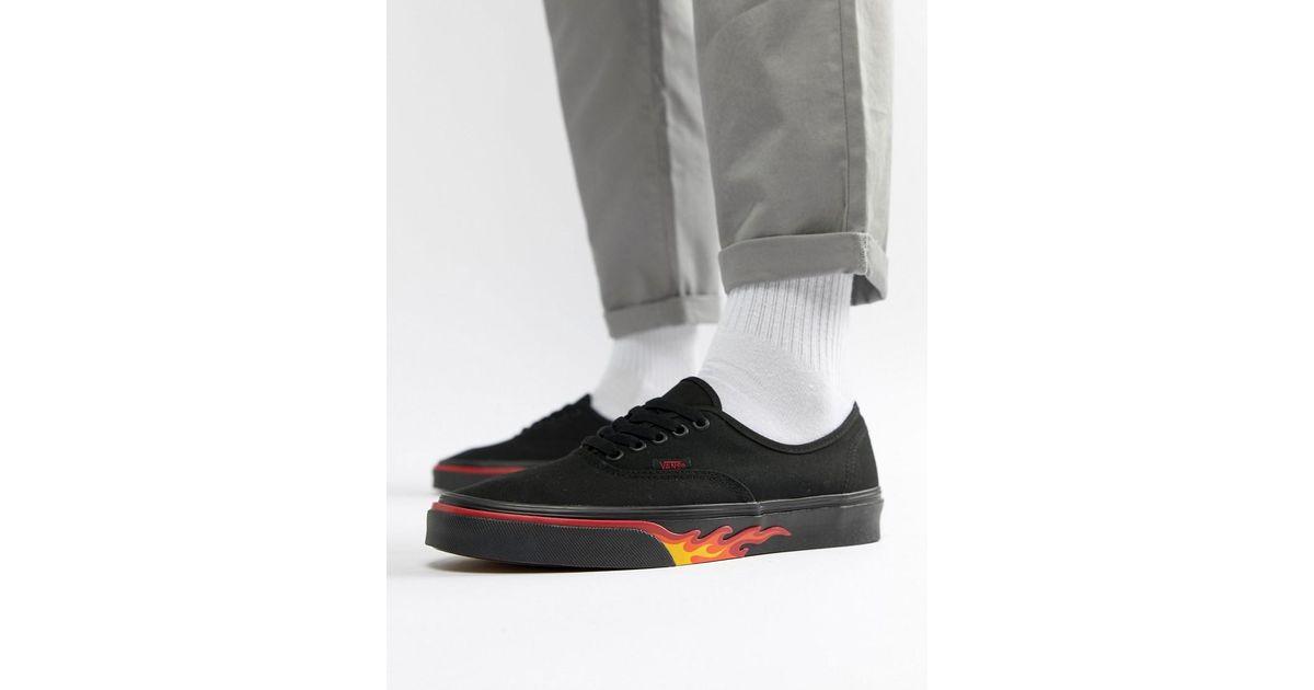 9e362a2662a5 Lyst - Zapatillas de deporte negras con diseo de llama VA38EMQ8Q de  Classics Authentic Vans de hombre de color Negro