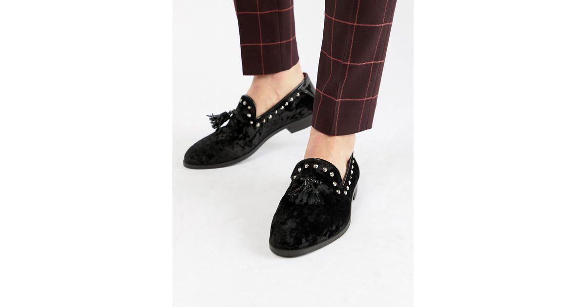 b0cc10157dc House Of Hounds Raptor Velvet Loafer in Black for Men - Save 51% - Lyst