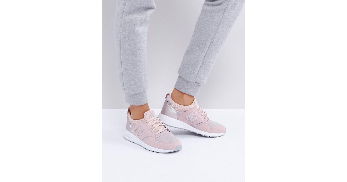 db2df716691e5 New Balance 420 Trainers With Rose Gold Trim In Pink in Pink - Lyst