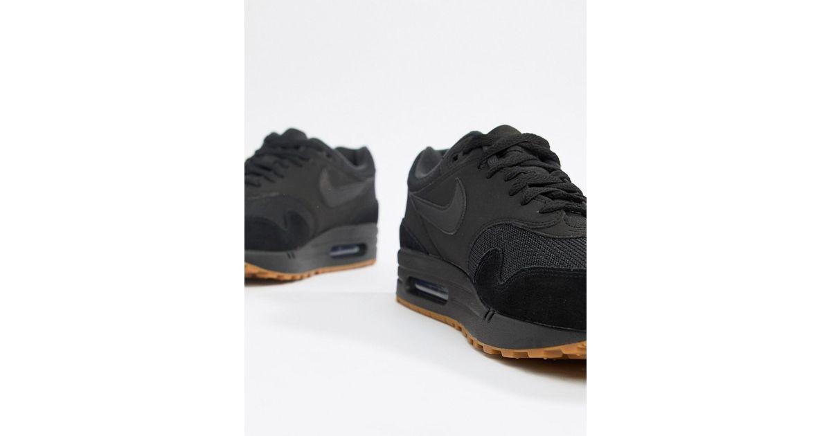 super popular 248b8 2ebb7 Nike Air Max 1 Trainers In Black Ah8145-007 in Black for Men - Lyst