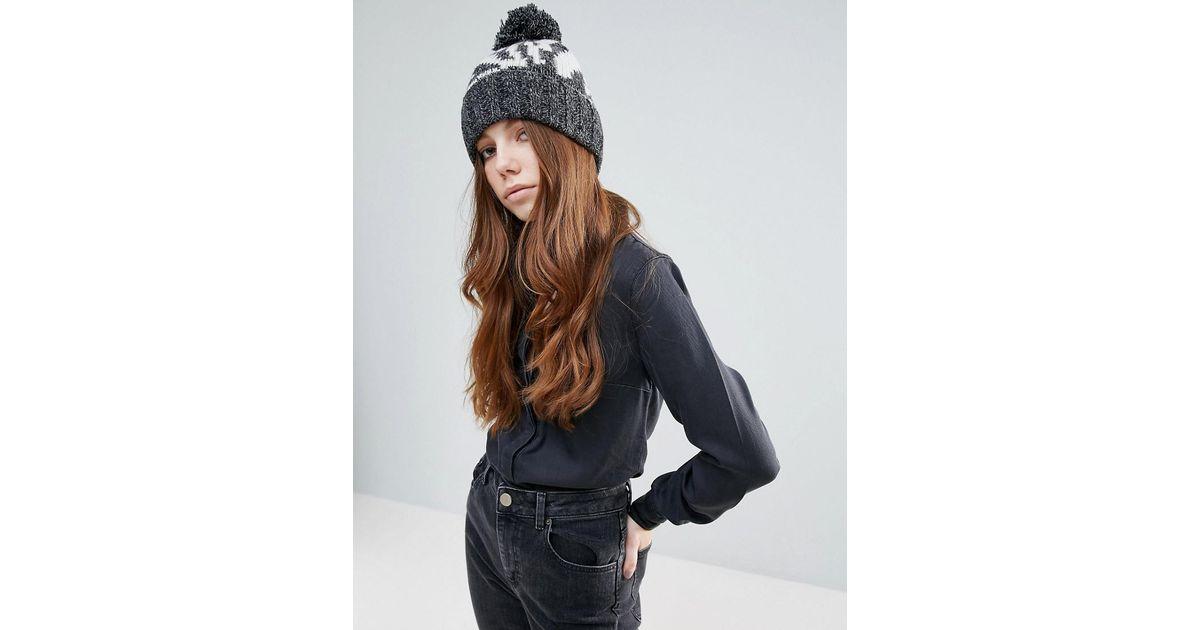0f045b968 Eugenia Kim - Genie By Logan Gray And Cream Zebra Print Hat With Knit Pom  Pom - Lyst