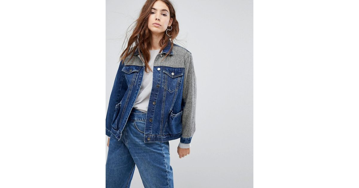 Lyst - Evidnt Longline Denim Jacket In Blue