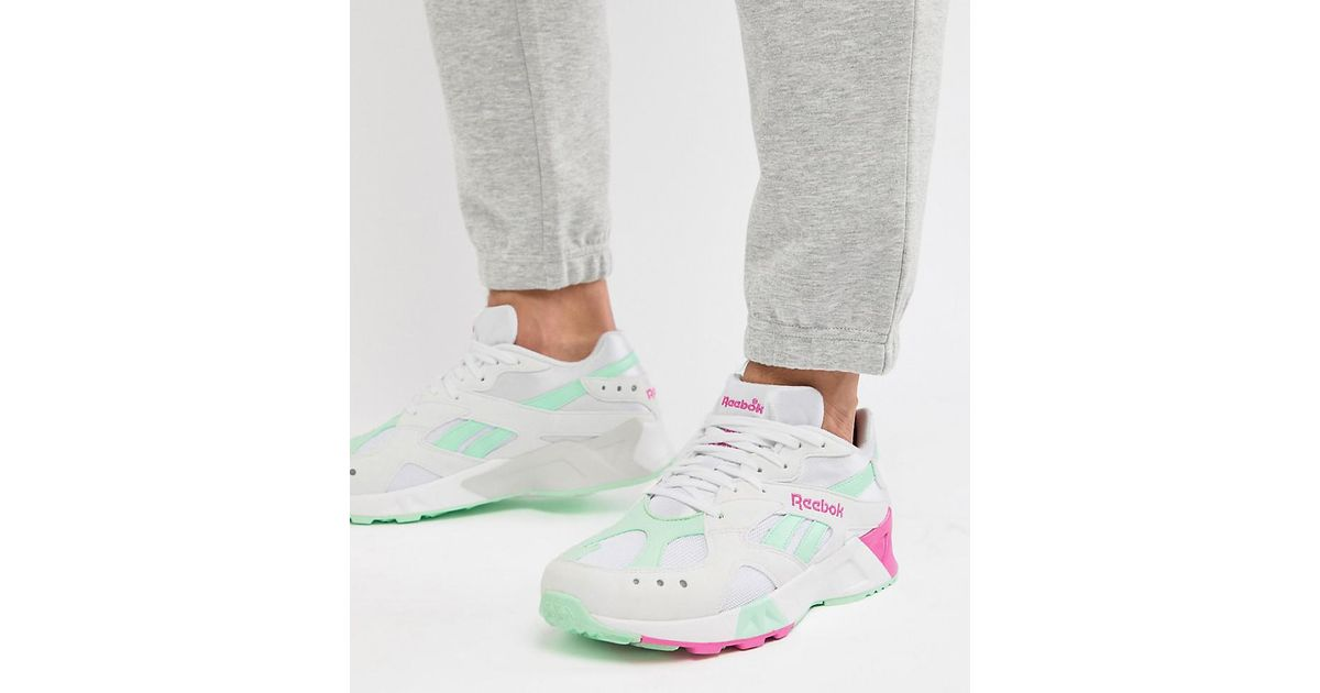 64f375571598f Reebok Classic Aztrek Trainers In White Exclusive To Asos in White for Men  - Lyst