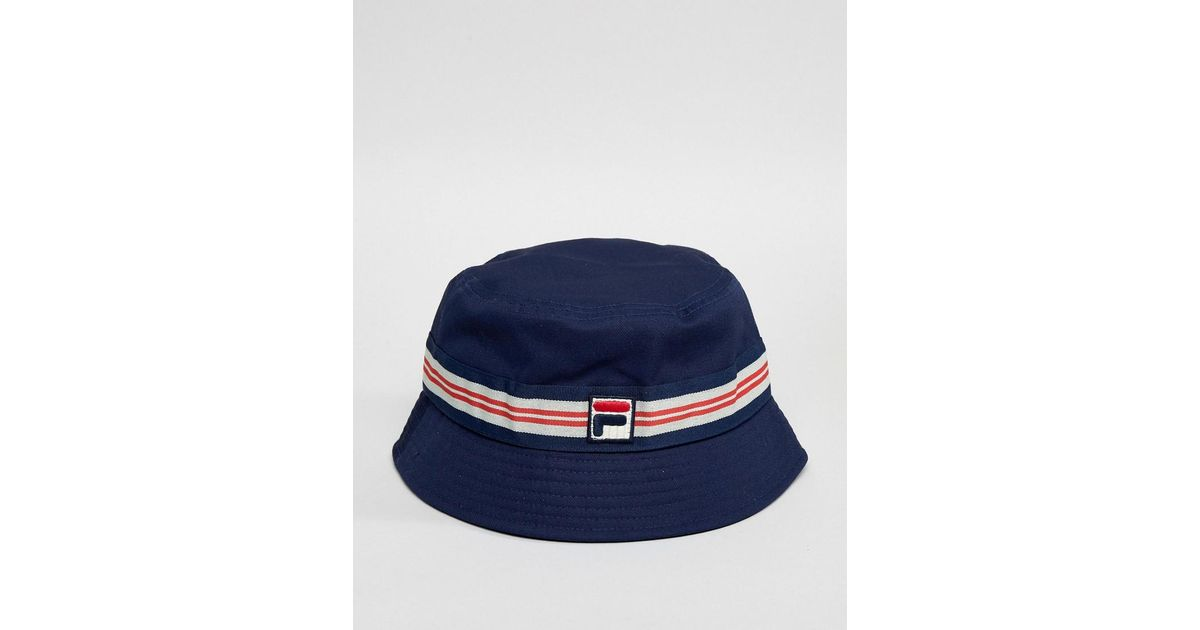 e2fa9d95 Fila Casper Bucket Hat In Navy in Blue for Men - Lyst