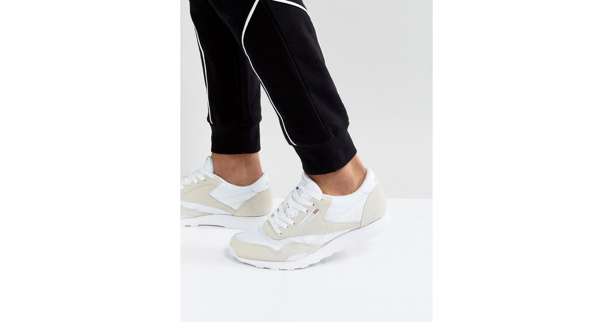 adc15fa9966a Reebok Classic Nylon Sneakers In White 6390 in White for Men - Lyst