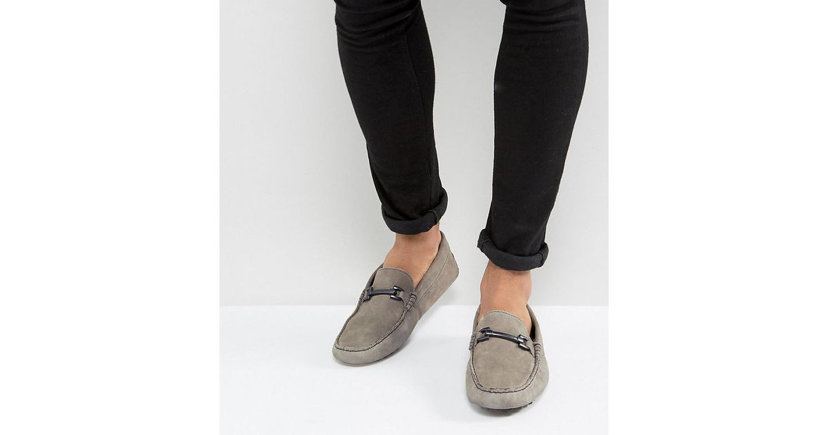 ASOS Wide Fit Driving Shoes In Leather uu7bvaOjnj