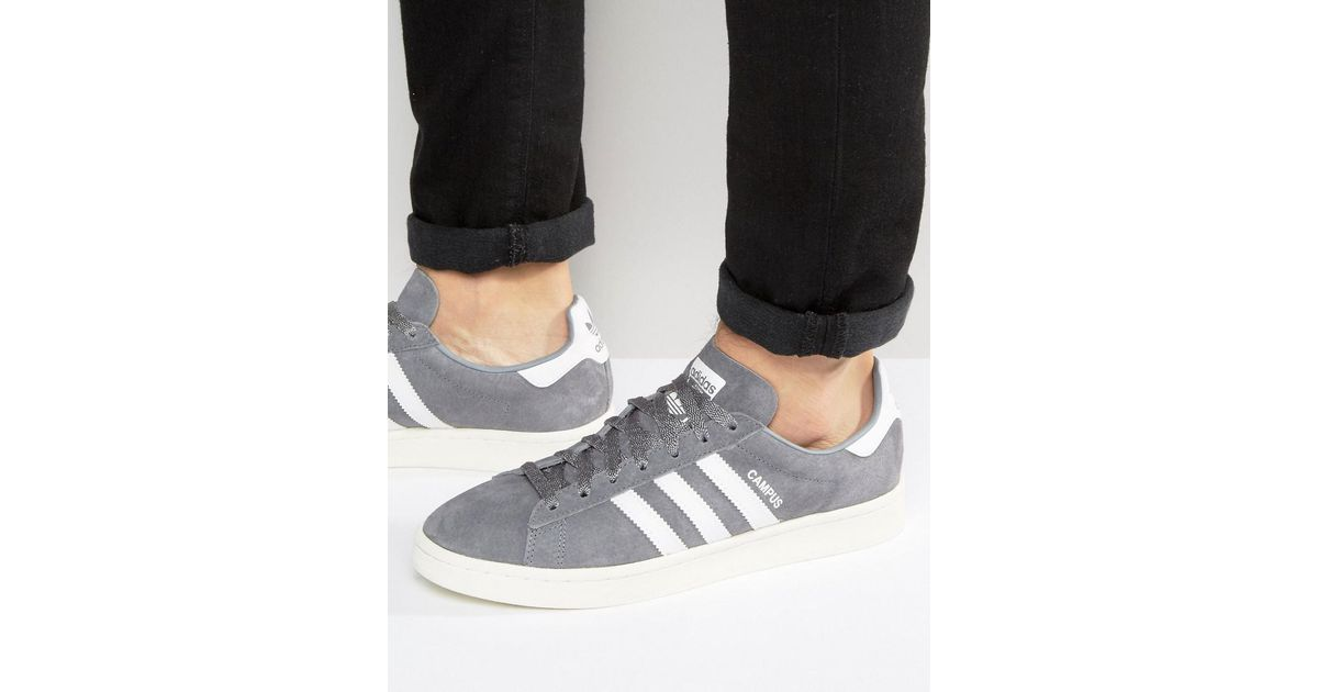classic fit ebbba b4d1a adidas Originals Campus Sneakers In Grey Ba7535 in Gray for Men - Lyst