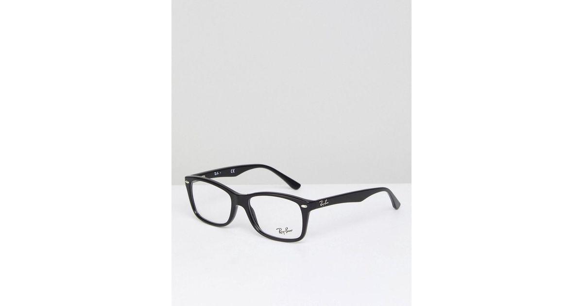 7fd4353dd3 Ray-Ban 0rx5228 Wayfarer Optical Frames With Demo Lenses In Black in Black  for Men - Lyst