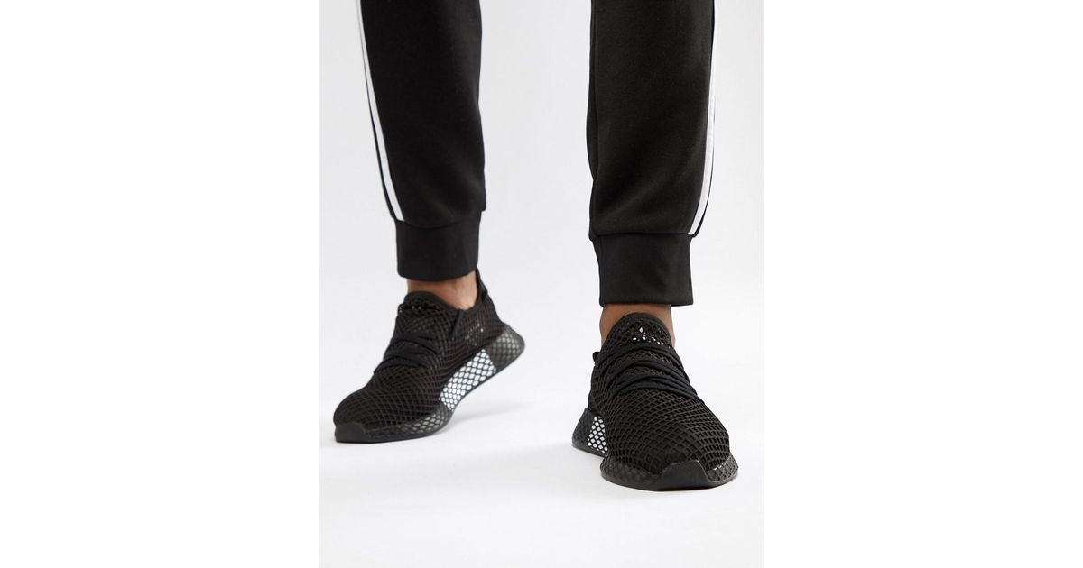 the latest 55bfb 1a392 adidas Originals Deerupt Sneakers In Black B41768 in Black for Men - Lyst